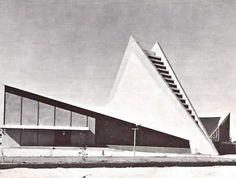 Iglesia de la Santa Cruz, calle 13, col. Aviacion Industrial, San Luis Postosi, México 1967   Arqs. Enrique de la Mora y Félix Candela -  Church of the Holy Cross, San Luis Postosi, Mexico 1967