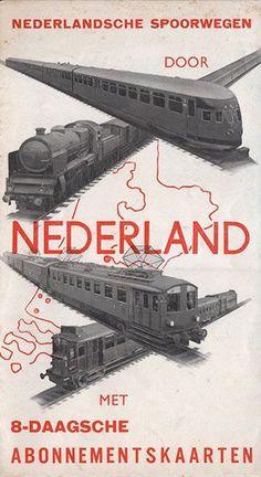 Treintjes Train Posters, Railway Posters, Vintage Advertisements, Vintage Ads, Dazzle Camouflage, Train Map, Train Truck, Trains, Bus Travel