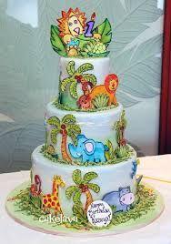 handpainted jungle cake - Google Search
