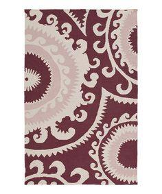 Look at this #zulilyfind! Pastel Pink Fallon Wool Rug #zulilyfinds