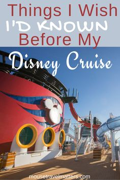 Things I Wish I'd Known Before My Disney Cruise Disney On A Budget, Disney Cruise Tips, Disneyland Tips, Disney World Planning, Disney Travel, Cruise Travel, Vacation Travel, Disneyland Paris, Disney Parks