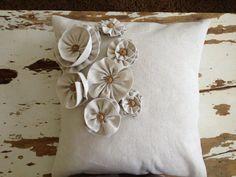 Decorative shabby chic throw pillow