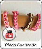 Bracelets kumihimo square disk