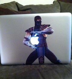 mortal combat sub-zero macbook sticker