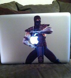 Mortal Kombat Sub-Zero MacBook Sticker - Win Picture Mortal Kombat Tattoo, Mortal Kombat Xl, Macbook Stickers, Mac Stickers, Johnny Cage, Mundo Dos Games, Mortal Combat, Sub Zero, Gamer Humor