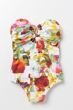 #floral #anthropologie #swimwear