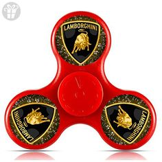 GGGfight-For Lamborghini logo Fidget Spinner High Speed Bearing ADHD Focus Anxiety Relief Toys for Children and Adults-red - Fidget spinner (*Amazon Partner-Link)