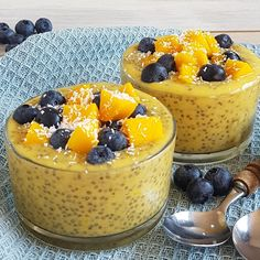 Paleo Fruit, Lucky Food, Coconut Chia Pudding, Mousse, Sports Food, Xmas Food, Healthy Baking, Food Inspiration, Low Carb Recipes
