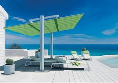 Flexy Large is a Large Freestanding Modular Shade System Made in Europe. Large spaces can be covered with the canopy available in 8 sizes that can be combined Rooftop Patio, Pergola Patio, Pergola Plans, Pergola Kits, Gazebo, Pergola Ideas, Pool Equipment Cover, Backyard Shade, Swimming Pools
