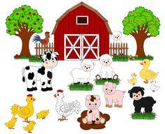 Ideas fruit tree graphic clip art for 2019 Farm Animals, Animals And Pets, Cute Animals, Animal Activities, Animal Crafts, Preschool Crafts, Crafts For Kids, Farm Cartoon, Farm Animal Birthday
