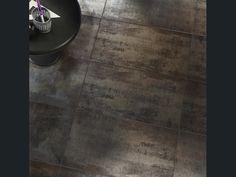 Étonnez avec le carrelage aspect métal : Metalart Carrelage intérieur en grès cérame émaillé Steelstone, noir, 30x60cm