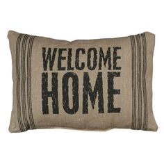 Welcome Home Pillow in Brown at Joss & Main