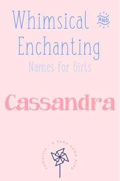Whimsical & Enchanting Baby Names For Girls I Nameille.com A Baby Name Blog I Discover Origins & Meanings