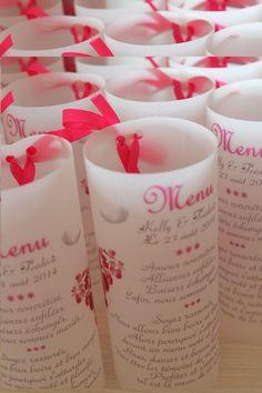 Bien-aimé DIY Menu photophore mariage et idées formulation - Mamour49 QZ81