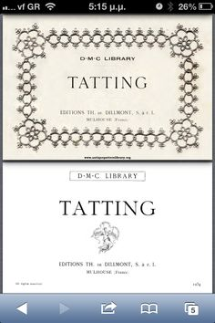 DMC tatting book