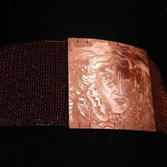 a belt made off a copper jersey with fretwork of mythological Gorgona/ The Look Ot The Year 2013 Premiere Runway My Works, Metal Working, Mythology, Copper, Jewelry, Decor, Art, Art Background, Jewels