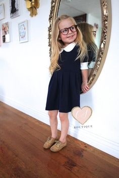 Girls Fashion -Knit dress -3/4 sleeve long -Pleated -Peter Pan Collar  Very fashionable and ultra cute!  Comes in sizes 2T- 8 in girls   Ships next day, unless stated otherwise.