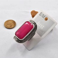 Vintage Style Square Shaped Stone Women's Fashion Cocktail #Ring
