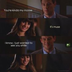 #glee loved these two together! So sweet!!