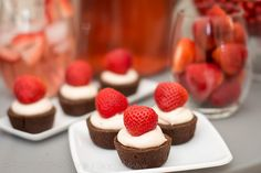 Rich dark chocolate and fresh strawberries delight in this Strawberry Cheesecake Dark Chocolate Brownies Bites