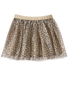 Girls Tan Leopard Leopard Print Tutu by Gymboree