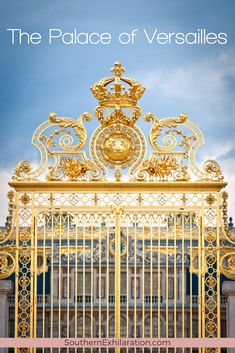 Located about 12 miles from Paris, a visit to Versailles is the perfect day trip where you can walk the halls and gardens at the Palace of Versailles. Road Trip Europe, Beautiful Paris, Palace Of Versailles, Paris France, France Europe, Sky And Clouds, Day Trip, Vacation Trips, Places To Travel