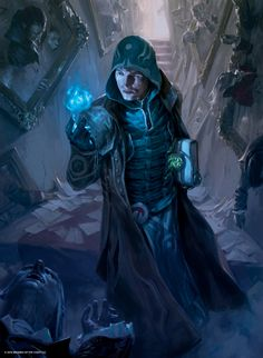 MtG Art: Jace, Unraveler of Secrets from Shadows over Innistrad Set by Tyler Jacobson - Art of Magic: the Gathering Dark Fantasy, Fantasy Male, Fantasy Rpg, Medieval Fantasy, Fantasy Artwork, Dungeons And Dragons Characters, Dnd Characters, Fantasy Characters, Fantasy Inspiration