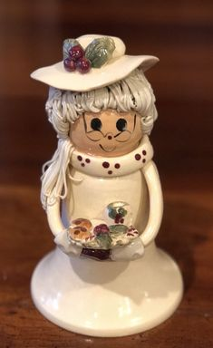 Rare NC Piney Woods Pottery Mrs. Santa Claus Cookies 2007 Collection JGM  #WHIMSICAL