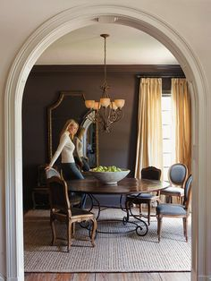 My future dream home features high-end craftmanship like this archway with great moulding detail.