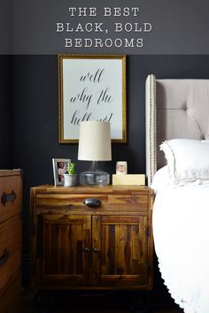 There is so much style, inspiration and chic mystery in a bold, black painted wall. Dark and moody accents add drama to any space. Contrary to popular belief, a dar bedroom is the next best thing. Here are our favorites all combined in one Color Search.