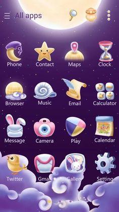 Moonie GO Launcher Theme- screenshot