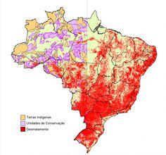 Terras Indígenas e Unidades de Conservação – contraponto ao desmatamento