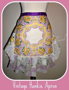 Vintage Hankie handmade hostess apron by mimisneedle on Etsy, $35.00