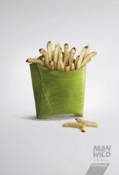 Pub : Man vs wild ... au fast food 100% nature