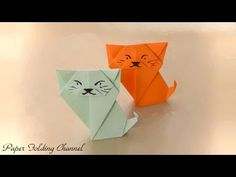Origami Cat by Richard Wang - Yakomoga Origami Cat of the Dollar (money) tutorial 折り紙 猫 - YouTube