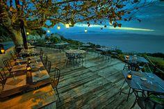 Plus belle terrasse (Auberge du Chat Qui Peche - Canari - Cap Corse)