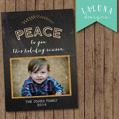 Christmas Card, Photo Christmas Card, Chalkboard Christmas Card, Holiday Card, DIY Printable Christmas Card