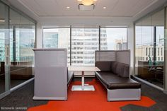 Coalesse Lagunitas Lounge System offers employees at Bain & Company's New York offices choice on where they want to work.