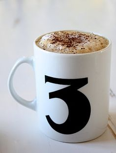 coffee and the number three...a perfect morning start