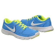 Athletics Nike Women's Flex Experience Blue Glow/White/Volt FamousFootwear.com