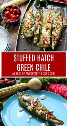 I can't wait for you to try this Stuffed Hatch Green Chile recipe. The flavors are out of this world and are a perfect appetizer, snack or dinner recipe! Hatch Green Chili Recipe, Green Chili Recipes, Hatch Chili, Mexican Food Recipes, Mexican Dishes, Gluten Free Zucchini Recipes, Healthy Recipes, Healthy Options, Easy Recipes