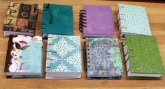 Variedad de Mini Cuadernos, cosido copta y en anillas, A7