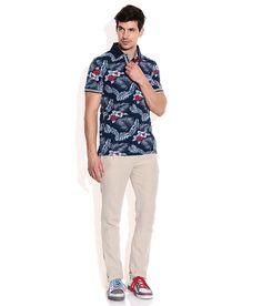 Celio Navy  Polo Neck T Shirt Polo Neck, Everyday Look, Tshirts Online, Neck T Shirt, Feminine, Floral, Stuff To Buy, Shopping, Women's