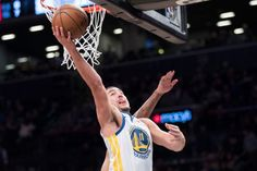 Scoring Basketball Academy - Golden State Warriors guard Klay Thompson scores during the first half of an NBA basketball game against the Brooklyn Nets, Sunday, Nov. 19, 2017, in New York. (AP Photo/Mary Altaffer) - TSA Is a Complete Ball Handling, Shooting, And Finishing System!  Here's What's Included...