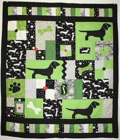 Handmade Dachshund Quilt by Doxie Crafts, via Flickr