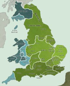Map of England AD 700 - With additional information and extensive historical timeline for each kingdom.