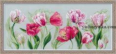 """Вышивка """"Весенние тюльпаны"""""""