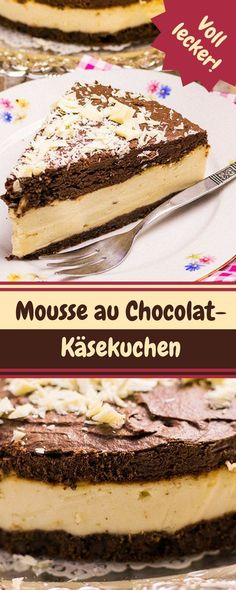 Mousse au Chocolat-Käsekuchen Rezept. Wer gerne geschmackliche Abwechslungen sucht, ist hier absolut richtig. Ich mag gerne die geschmacklichen Kontraste, die sich aber am Ende harmonisch zusammenfügen.