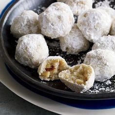 Walnut Snowball Cookies Recipe Yotam Ottolenghi Food Wine, Center Stage: Walnut Snowball Cookies with Completely Delicious Everyday Good. Delicious Cookie Recipes, Yummy Cookies, Dessert Recipes, Yummy Food, Sugar Cookies, Walnut Cookies, Buttery Cookies, Cream Cookies, Crinkle Cookies