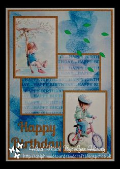 Delphinoid's Cards and Craft: Birthday Card - Summer Fun
